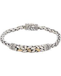 Samuel B. 18k & Silver Leaf Design Bracelet - Metallic
