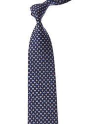 Ferragamo Blue Lady Bug Silk Tie