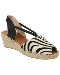 Andre Assous Dainty Leather & Haircalf Espadrille - Black