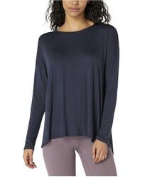 Beyond Yoga Draw The Line Tie Back Pullover - Blue