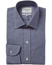 Ledbury Poplin Classic Fit Dress Shirt - Blue