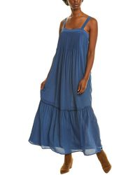 Johnny Was Jade Kalif Silk Maxi Dress - Blue