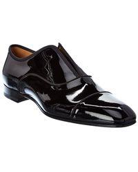 Christian Louboutin Alpha Male Patent Loafer - Black