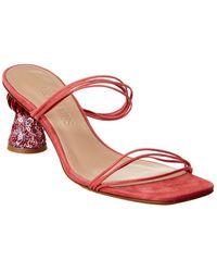 Jacquemus Les Mules Vallena Suede Sandal - Pink