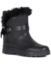 Geox Hosmos Leather Ankle Boot - Black
