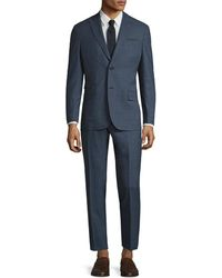 Michael Bastian - Gray Label Wool Mini Checkered Peak Lapel Suit - Lyst