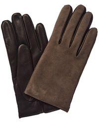 Portolano Suede & Leather Glove - Black