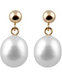 Splendid 14k 8-8.5mm Freshwater Pearl Earrings - Metallic