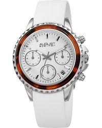August Steiner Silicone Watch - Metallic