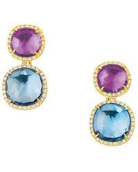 Marco Bicego Jaipur 18k 0.72 Ct. Tw. Diamond & Gemstone Drop Earrings - Blue