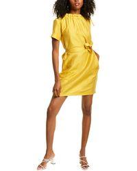 Max Mara Weekend Caio Linen & Silk-blend Dress - Yellow
