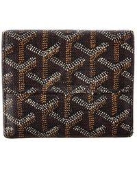 Goyard Black Ine Canvas Coin Purse Wallet