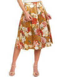 Tahari Tahari Asl A-line Skirt - Yellow