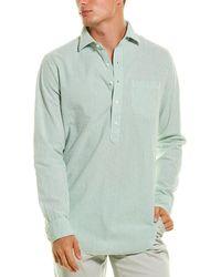 Sid Mashburn Popover Shirt - Green