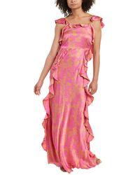 Tanya Taylor Haven Silk Maxi Dress - Pink