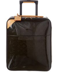 Louis Vuitton Brown Infini Monogram Vernis Leather Pegase 45