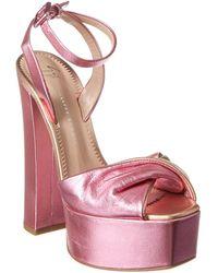Giuseppe Zanotti Leather Platform Sandal - Pink