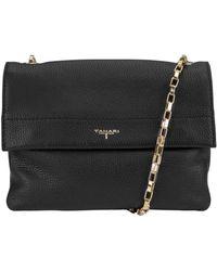 T Tahari Claire Crossbody Leather Flap Bag - Black