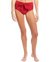 Andrea Iyamah Maven High-waist Bikini Bottom - Red