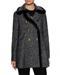 Dolce & Gabbana - Double Breasted Tweed Coat - Lyst