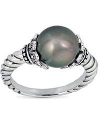 Belpearl Silver 12mm Tahitian Ring - Metallic