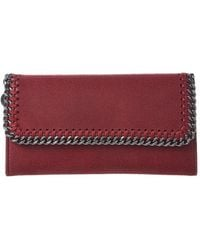 Stella McCartney Falabella Shaggy Deer Continental Wallet - Red