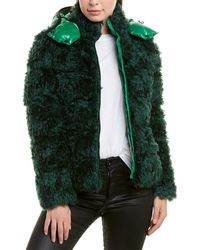 Moncler Badyp Mohair-blend Down Coat - Green