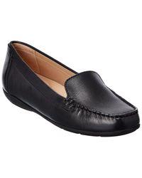 Geox Annytah Leather Loafer - Black