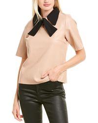 Gracia Collar Top - Brown