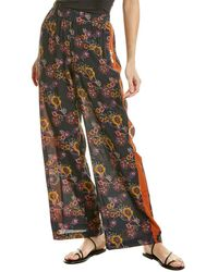Johnny Was Palazzo Silk-blend Pant - Blue