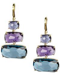 Marco Bicego Murano 18k Gemstone Drop Earrings - Blue