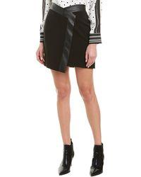 BCBGMAXAZRIA Wrap-look Mini Skirt - Black