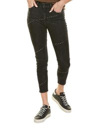 7 For All Mankind 7 For All Mankind The High-waist Ankle Washed Black Skinny Leg Jean