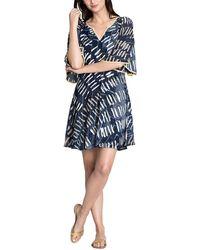 dda40645437 Lyst - Nic+Zoe Scalloped Shift Dress in Blue