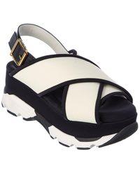 Marni Fussbet Platform Sandal - White