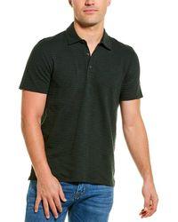 Vince Stripe Polo Shirt - Black