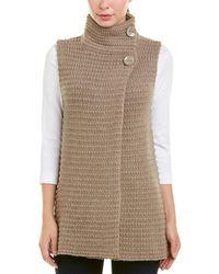 Autumn Cashmere - Mock Neck Wool & Cashmere-blend Gilet - Lyst