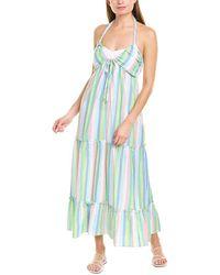 Shoshanna Tiered Halter Maxi Dress - Green