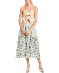 Petersyn Roxy Midi Dress - Blue