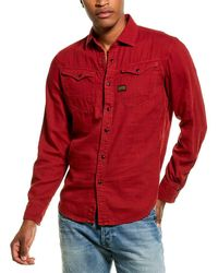 G-Star RAW Raw Arc Slim Woven Shirt - Red