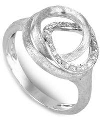 Marco Bicego Jaipur Link 18k 0.14 Ct. Tw. Diamond Knot Ring - Metallic