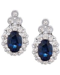 Le Vian ? 14k 1.40 Ct. Tw. Diamond & Sapphire Earrings - Blue