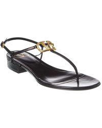 Valentino Vlogo Thong-strap Sandals - Black