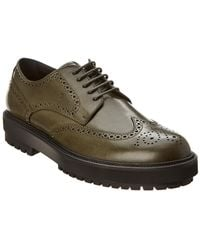 Tod's Leather Oxford - Green