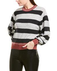 Splendid Rib-trim Cashmere Sweater - Gray