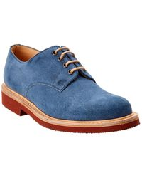 Dunhill Lace-up Suede Oxford - Blue