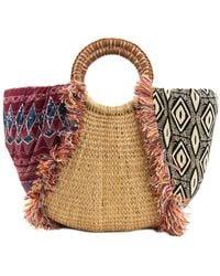 Sam Edelman Adira Straw Paper Basket Shoulder Bag - Brown