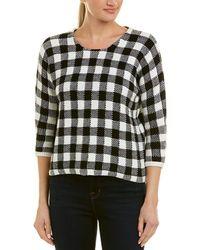 Maje Gingham Sweater - Black