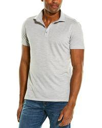 Stone Rose Printed Polo Shirt - Grey