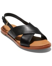 Cole Haan Fernanda Grand Leather Sandal - Black